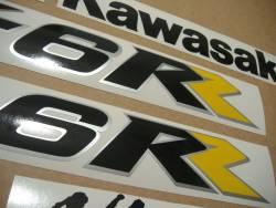 Kawasaki ZX6RR ninja 2005 green replacement stickers kit