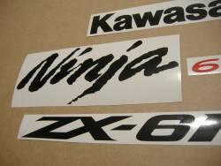 Kawasaki ZX6RR ninja 2006 green complete logo decals kit