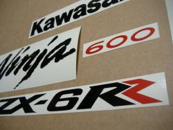 Kawasaki ZX-6RR 2006 (green 600 race replica) stickers set