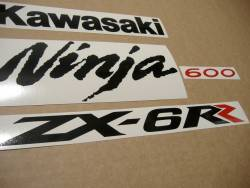 Kawasaki ZX6RR ninja 2006 green replacement stickers kit