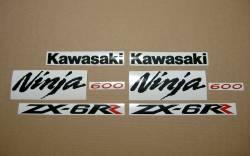 Kawasaki ZX6RR ninja 2006 green complete logo stickers kit