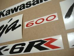 Kawasaki ZX6RR ninja 2006-2007 restoration decals set