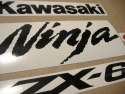 Kawasaki ZX6RR ninja 2006-2007 reproduction decal set