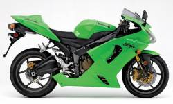 Kawasaki ZX-6RR 2006 (green 600 race replica) decals set