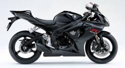 Suzuki GSXR 600 K7 black full decals kit