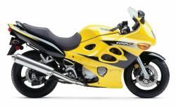 Suzuki GSXF Katana 600 2003 yellow complete graphics set
