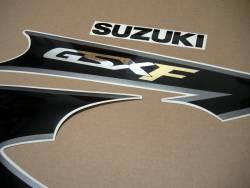 Suzuki GSXF Katana 600 2003 yellow complete sticker set