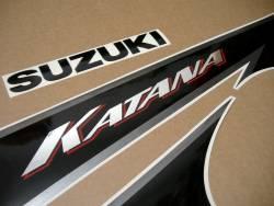 Graphics set for Suzuki Katana GSX-F 600 K3 yellow version