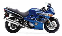 Suzuki Katana GSX600F 2002 (K2) blue model stickers set