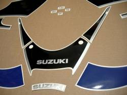 Suzuki Katana GSX600F 2002 (K2) blue replica stickers