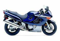 Suzuki Katana GSXF 750 2005 blue complete graphics set