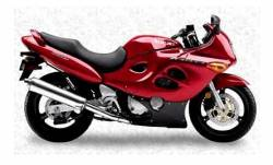 Suzuki Katana GSXF 750 2000 red version restoration graphics