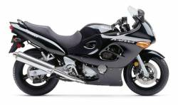 Suzuki Katana GSX 750F 2002 black replacement decals
