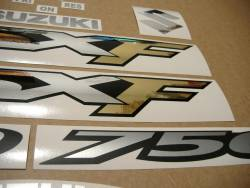 Suzuki GSX 750F 2006 (K6) complete logo decal set