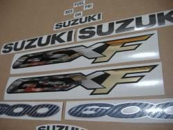 Suzuki GSX 600F 2000 (K1) red model stickers set
