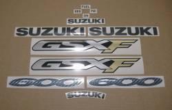 Suzuki GSX600F 2000 (K1) red full logo decals set