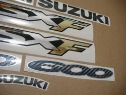 Suzuki GSX 600F 2001 red version complete decal set
