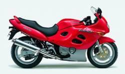 Suzuki GSX 600F 2000 (K1) red model graphics set
