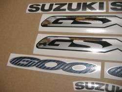 Suzuki GSX 600F 2000 (K1) red model adhesives set