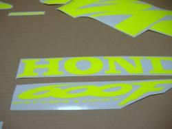 Honda CBR F4 neon fluorescent yellow decals set