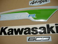 Decals for Kawasaki ZX-6R 2012 green performance version
