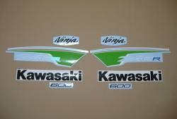 Kawasaki ZX6R Ninja 2012 green performance edition decals