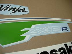 Kawasaki ZX6R Ninja 2012 green performance edition stickers