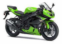 Kawasaki ZX6R Ninja 2012 green performance edition graphics