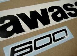 Decals for Kawasaki ZX6R 2012 green performance edition