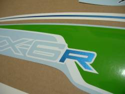 Stickers for Kawasaki ZX6R 2012 green performance edition