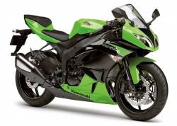 Kawasaki ZX6R Ninja 600 2012 green version decals set