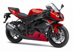Kawasaki ZX6R Ninja 600 2012 red version decals set
