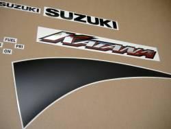 Suzuki GSXF 600 K1 2001 yellow complete decals set