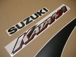 Suzuki Katana 600 K1 2001 yellow full graphics set