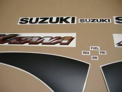 Suzuki GSXF 600 K1 2001 yellow complete sticker kit
