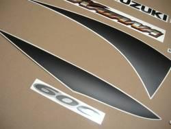 Suzuki GSXF 600 K1 2001 yellow complete graphics set