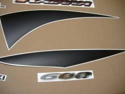 Decals for Suzuki Katana 600 K1 2001 yellow model