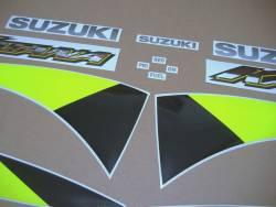 Suzuki Katana GSXF 600 2002 blue restoration decals