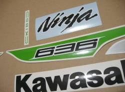 Kawasaki ZX6R 636 ninja 2013 green full graphics set