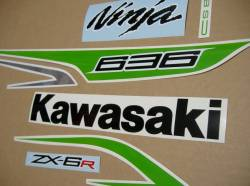 Kawasaki ZX-6R 636 2013 green model complete decal set