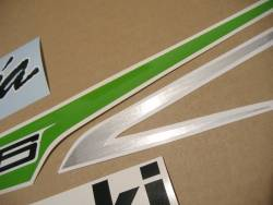 Kawasaki ZX6R 636 2013 green model complete sticker kit