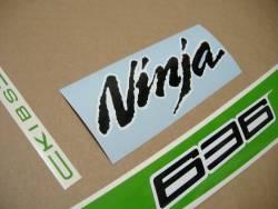 stickers for Kawasaki ZX6R 636 ninja 2013 green model