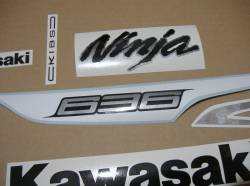 Kawasaki ZX6R 636 ninja 2013 reproduction graphics set