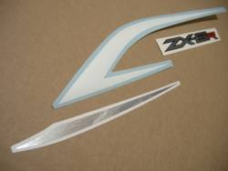 Kawasaki ZX6R 636 2013 white livery replica decals