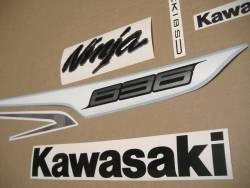 Decals for Kawasaki ZX6R 636 ninja 2013 white version