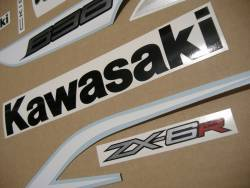 Stickers for Kawasaki ZX6R 636 ninja 2013 white version