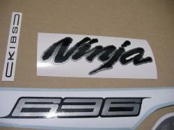 Graphics for Kawasaki ZX6R 636 ninja 2013 white version