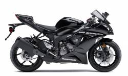 Kawasaki ZX-6R 636 ninja 2013 black model decals kit