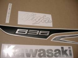 Kawasaki ZX6R 636 ninja 2013 black decals & labels