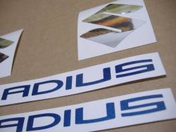 Suzuki Gladius SFV 650 white/blue replacement stickers